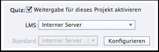 Weitergabe an internen Server